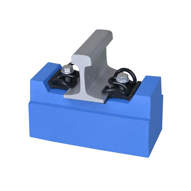 High-speed rail V-shaped fastener